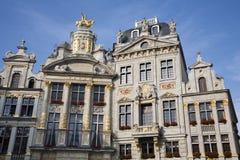 布鲁塞尔-宫殿门面从大广场的 免版税库存图片