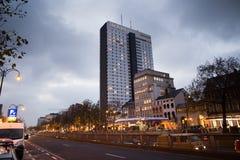 布鲁塞尔-2017年12月1日:旅馆布鲁塞尔是以前叫作希尔顿饭店的一家4个星旅馆 图库摄影