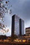 布鲁塞尔-2017年12月1日:旅馆布鲁塞尔是以前叫作希尔顿饭店的一家4个星旅馆 库存图片