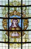 布鲁塞尔-梅特dolorosa的心脏在教会Notre Dame辅助财宝Claires的在Keer前1月van (1904) 免版税库存照片
