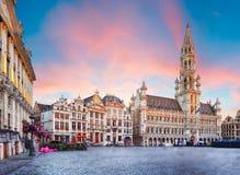 布鲁塞尔-盛大地方,比利时,没人 图库摄影