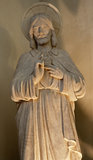 布鲁塞尔-耶稣基督的重点雕象  库存照片