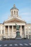 布鲁塞尔- Coudenberg的圣Jacques教会 免版税库存照片