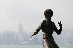 布鲁斯・香港庇护雕象 免版税库存图片