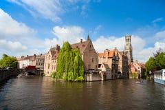 布鲁日市在比利时 库存图片