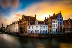 布鲁日布鲁基在荷兰城市在比利时 库存照片