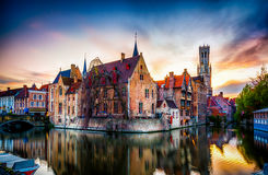 布鲁日布鲁基在荷兰城市在比利时 免版税库存照片
