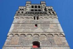布鲁日教会夫人我们的塔 免版税库存图片