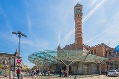 布鲁日的火车站在比利时 免版税图库摄影