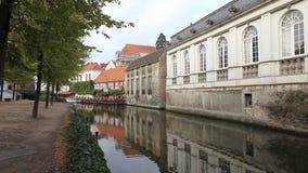 布鲁日运河,比利时 股票录像