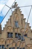 布鲁日,比利时欧洲- 9月26日:分裂镜子历史 库存照片