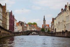 布鲁日,比利时看法  免版税图库摄影