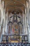 布鲁日,比利时- 2014年6月12日:主要法坛和长老会的管辖区在st Jacobs教会里 库存照片