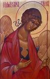 布鲁日-圣徒天使迈克尔在st Constanstine和海伦娜orthodx教会里(2007年- 2008) 库存图片