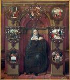 布鲁日-圣母玛丽亚和图象油漆从耶稣生活Petrus Pourbus (1556)在st Jacobs教会里 免版税库存照片