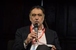 布鲁诺著名意大利新闻记者manfellotto 图库摄影