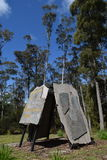 布什公园纪念碑由石头制成 免版税库存照片