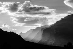 布洛杰特峡谷日落 免版税库存照片