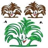 布什植物MULTIFILM微笑 皇族释放例证