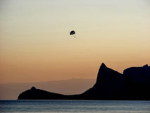 帆伞运动在克里米亚 库存照片