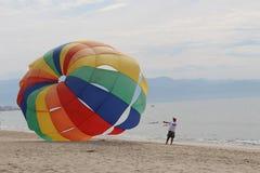 帆伞运动 图库摄影