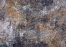 帆布提取绘画被变形的难看的东西生锈的深灰布朗黑石头腐朽秋天背景墙纸的老纹理 免版税库存照片