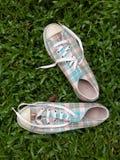 帆布鞋 图库摄影