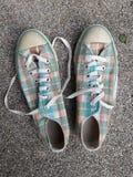 帆布鞋 免版税库存照片