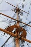 帆柱和索具 库存图片