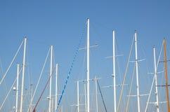 帆柱在博德鲁姆,土耳其 图库摄影