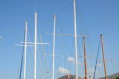帆柱在博德鲁姆,土耳其 免版税库存图片
