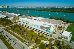 帆柱学院迈阿密Key Biscayne空中照片  图库摄影