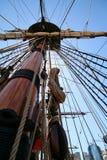 帆柱海盗s船 库存图片