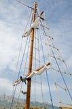 帆柱游艇 库存照片
