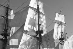帆柱索具风帆 库存图片