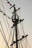 帆柱船 库存照片