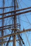 帆柱船 免版税库存图片