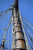 帆柱风帆 免版税库存照片