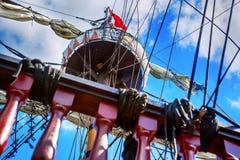 帆柱,帆船 免版税库存图片