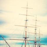 帆柱 库存照片