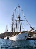 帆船'NTM Creoula'码头区 免版税库存照片