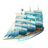 帆船例证 库存图片