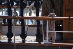 帆船在加尔维斯顿 免版税库存照片
