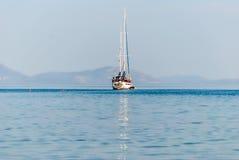 帆船在希腊,帕拉伊阿埃皮达鲁斯,希腊 图库摄影