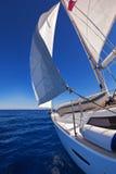 帆船在海 库存照片