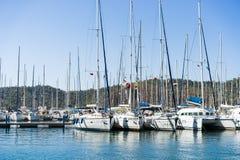 帆船在港口 免版税库存图片