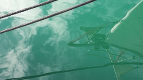 帆船在超级慢动作的弓反射与绳索 影视素材