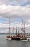 帆船在Brixham港口 库存照片