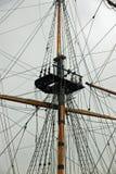 帆船帆柱和索具 免版税库存照片