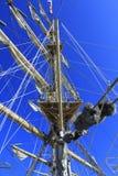 帆船帆柱绳索 库存图片